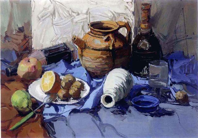 陶罐色彩静物绘画步骤六