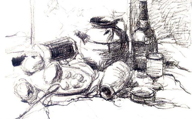 陶罐色彩静物绘画步骤一