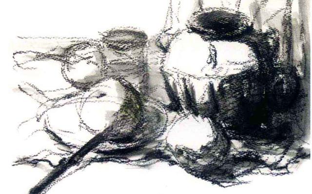 白色陶罐画法步骤二