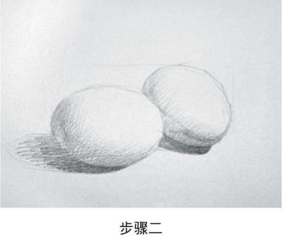 素描鸡蛋的画法步骤二