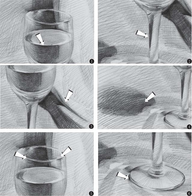 高脚杯细节画法