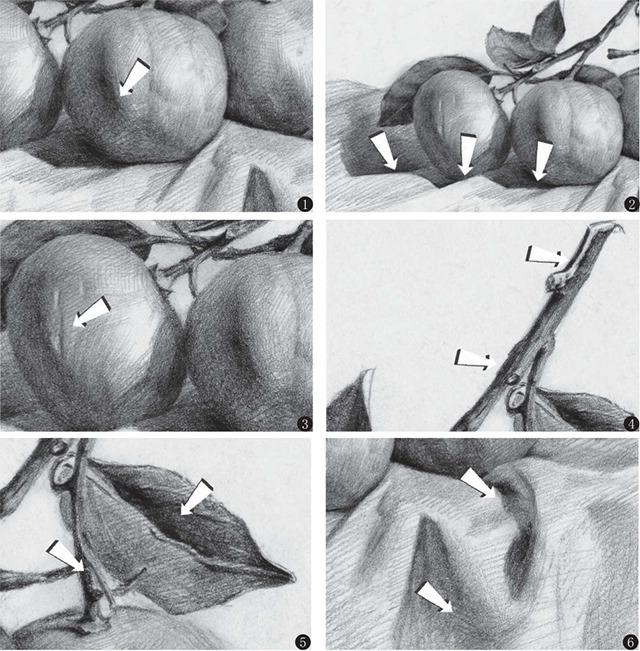素描橘子细节画法