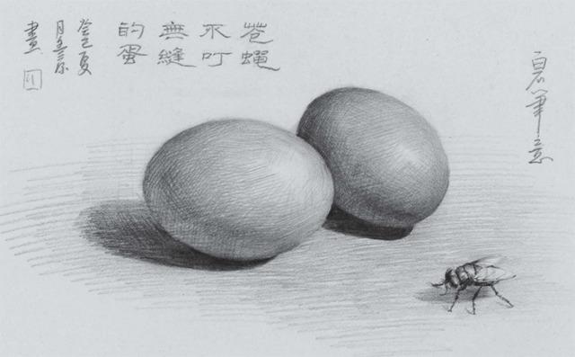 素描鸡蛋的画法