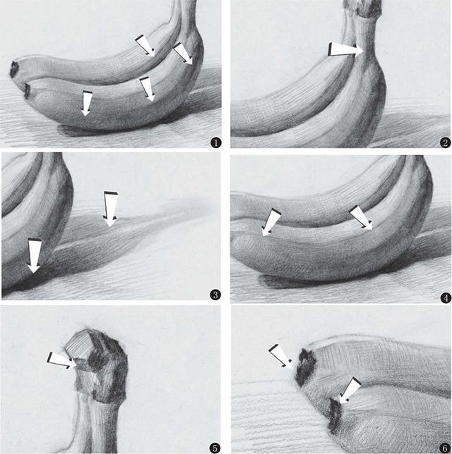 素描香蕉细节注意事项