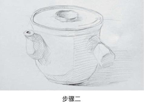 素描药罐的画法步骤二