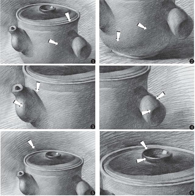 素描药罐的细节画法
