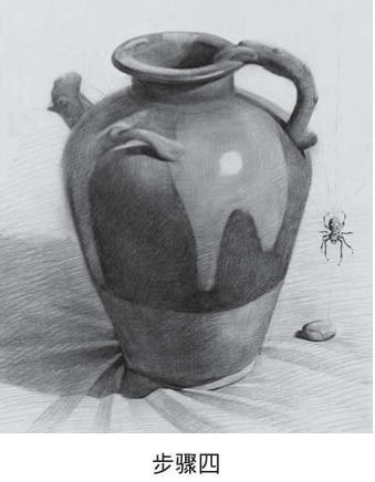 素描罐子画法步骤四