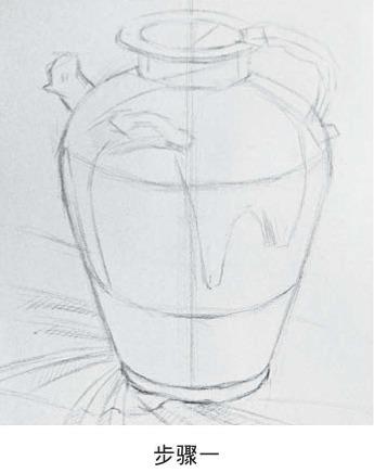 素描罐子画法步骤一