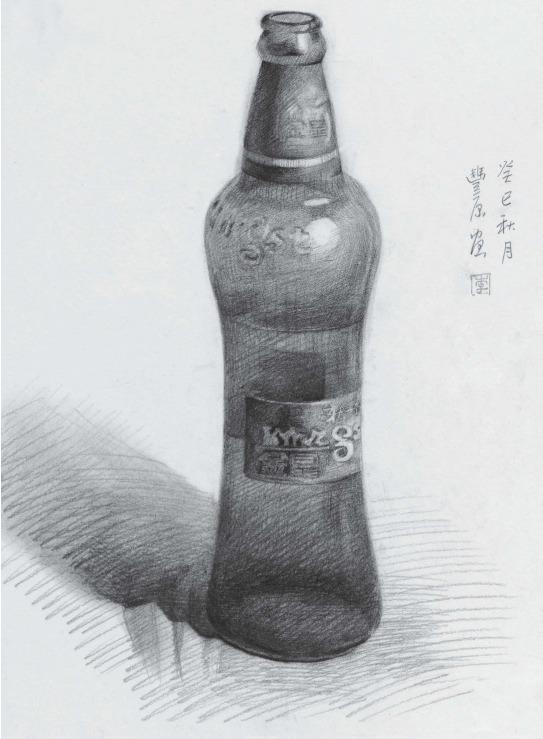 素描啤酒瓶