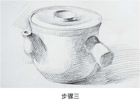 素描药罐的画法步骤三