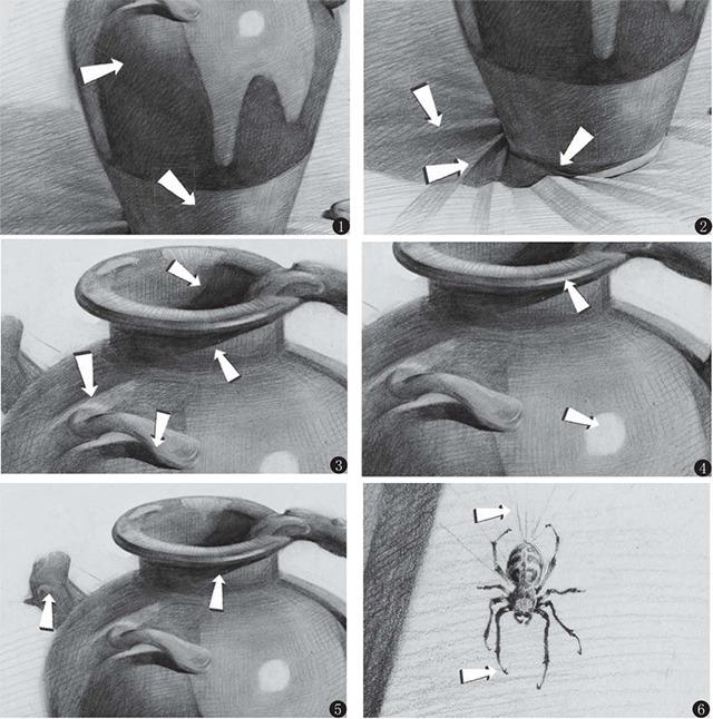 素描普通罐子的细节画法