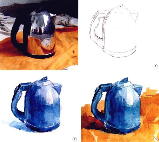 色彩不锈钢水壶步骤图(一至三)