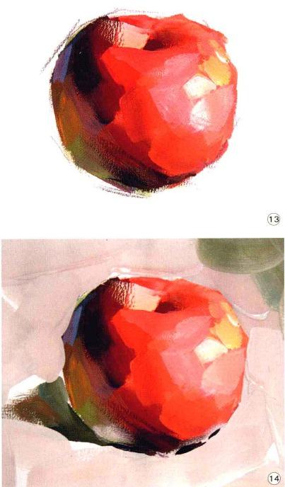 色彩苹果的画法解析图十三和十四