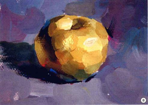 色彩苹果的画法步骤图(8)