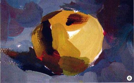 色彩苹果的画法步骤图(6)