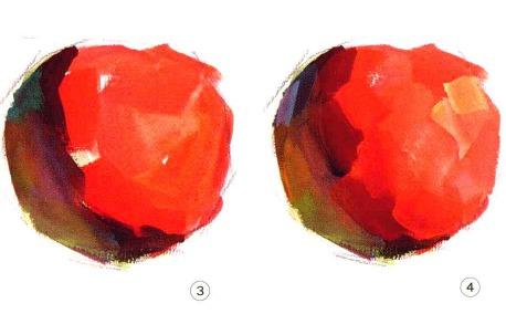 色彩苹果的画法解析图三和四