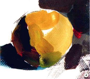 色彩苹果的画法步骤图(4)