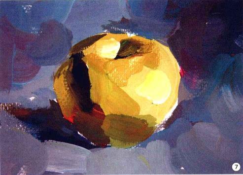 色彩苹果的画法步骤图(7)