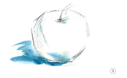 色彩苹果的画法步骤图(1)