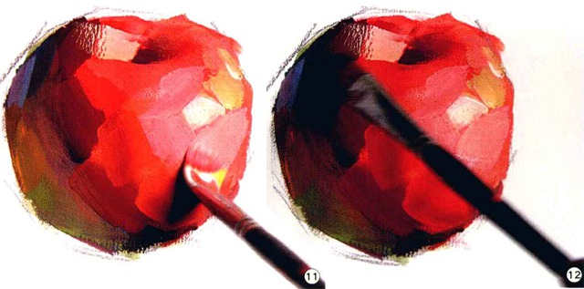 色彩苹果的画法解析图十一和十二