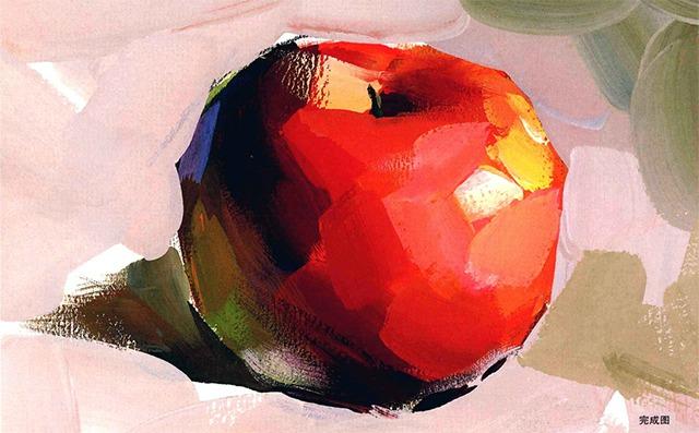 色彩苹果完成图