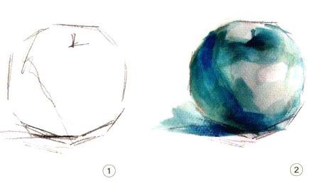 色彩苹果的画法解析图一和二