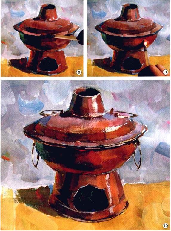 色彩铜火锅步骤八、九、十