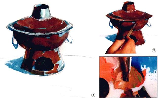 色彩铜火锅步骤四、五