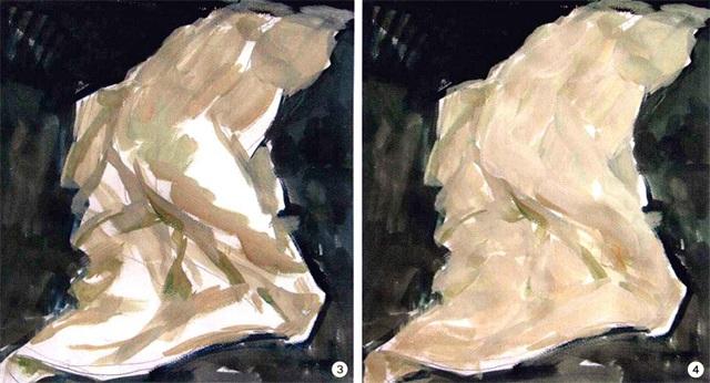 色彩衬布画法步骤三和四