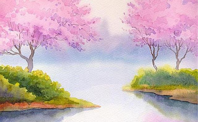 风景色彩画写生