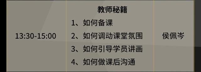 13:30-15:00教师秘籍(侯佩岑)