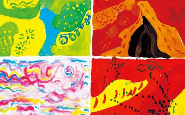 热抽象色彩练习作品