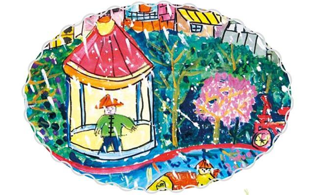 三年级美术雨景色彩练习