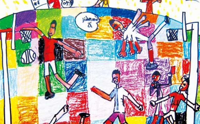 运动系列儿童色彩练习