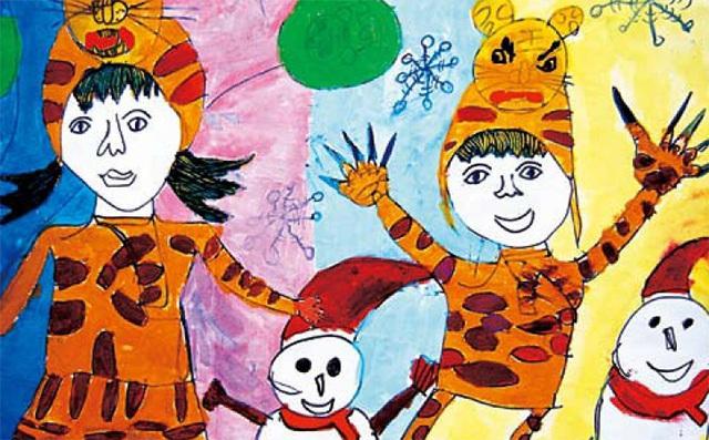 想象系列少儿色彩绘画作品