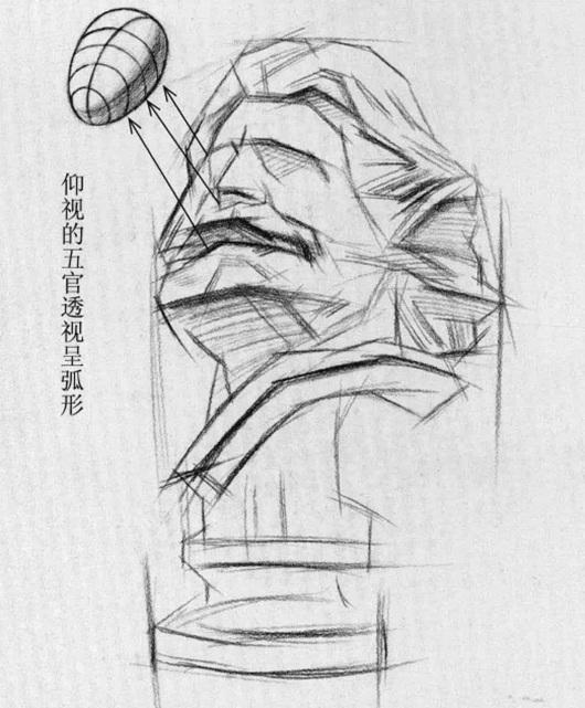 马赛石膏像素描步骤五