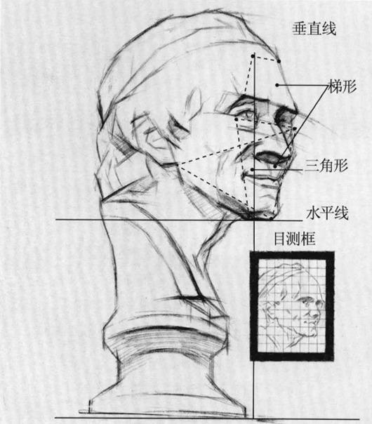 伏尔泰石膏像素描步骤四
