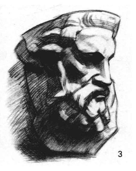 摩西面像的作画方法三