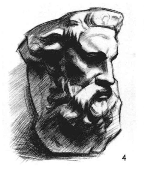 摩西面像的作画方法四