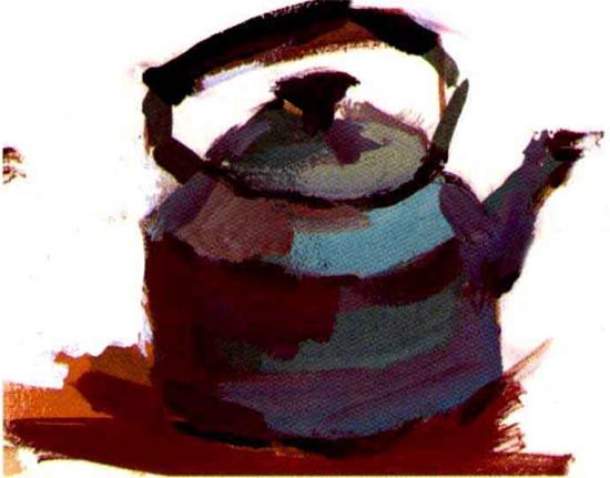 水粉水壶画法步骤三