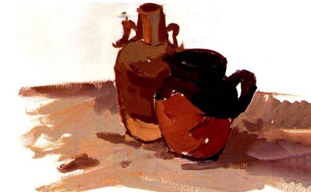 水粉陶罐画法步骤四