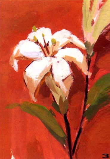 水粉花卉画法步骤三