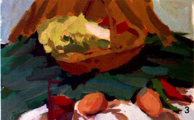 水粉蔬菜绘画步骤三