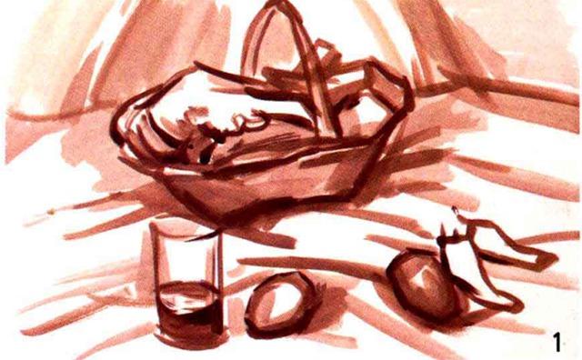 水粉蔬菜绘画步骤一