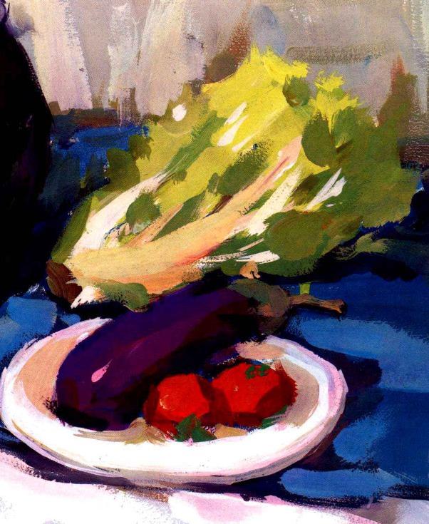 水粉蔬菜绘画步骤四