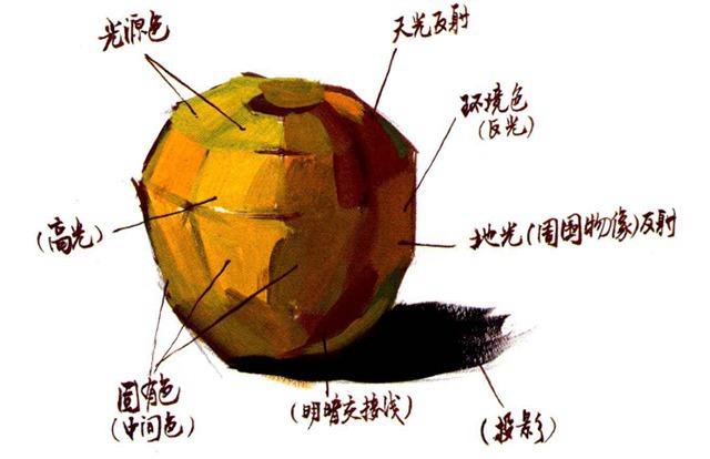 水粉苹果解析