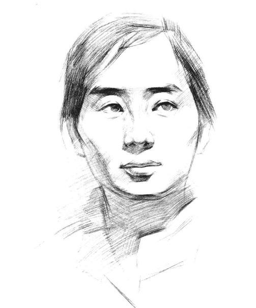 铅笔素描头像的画法步骤四