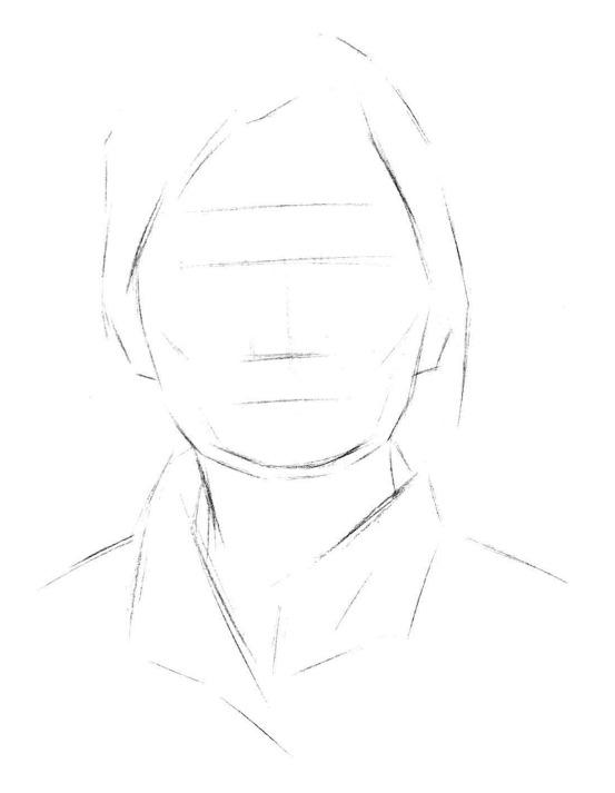 铅笔素描头像的画法步骤一