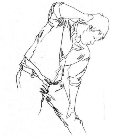 单个人物速写画法步骤三