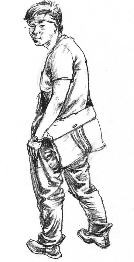 背包的青年